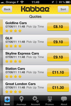 kabbee1 Kabbee is Like Expedia for London Minicabs