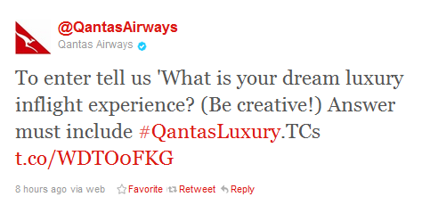 qantas twitter fail Ouch   nows probably not the right time for a Twitter campaign, Qantas