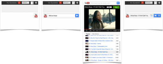 youtube slider 520x205 Google debuts slick YouTube player for Google+ and wider Chrome integration