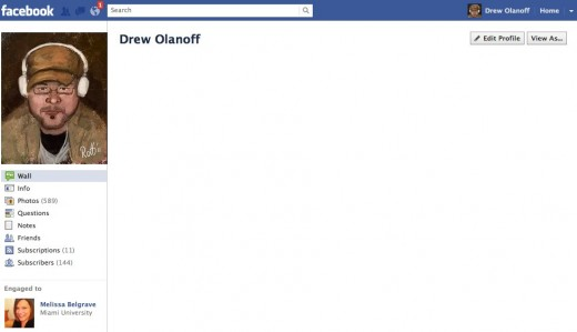 1 Drew Olanoff 2 520x299 Not a fan of Timeline on Facebook? Use IE7, Facebook stopped supporting it