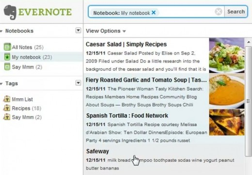 28 Say Mmm on Evernote 520x361 Say Mmms integration with Evernote automatically creates grocery lists