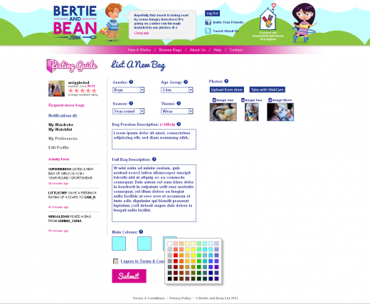 4 BB new bag 520x427 Bertie and Bean brings childrens clothing exchanges online in the UK