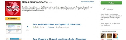 BreakingNews Channel StumbleUpon 520x168 BreakingNews becomes first curated StumbleUpon Channel