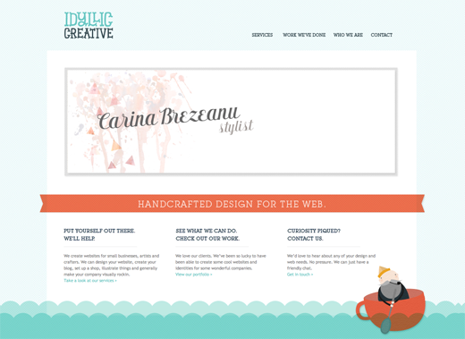Idyllic Creative 14 awesome examples of illustration in web design