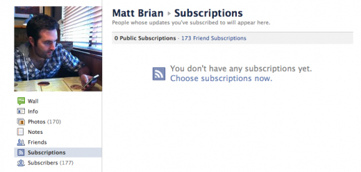 Screen Shot 2011 12 07 at 14.32.05 520x248 Facebook to launch a Subscribe button for websites imminently
