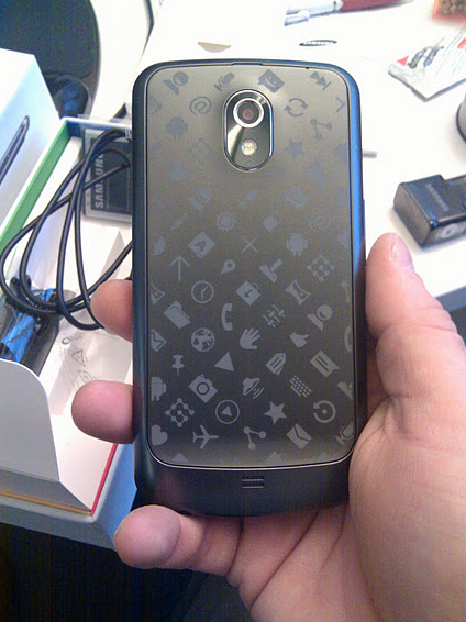 Screen Shot 2011 12 19 at 10.50.42 Google gives out customised Galaxy Nexus handsets to employees for Christmas