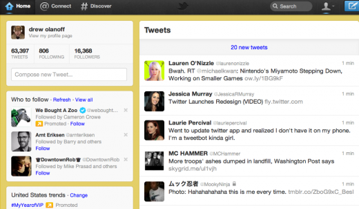Screen shot 2011 12 08 at 1.36.56 PM 520x302 The new Twitter is all about simplicity, discovery and usability