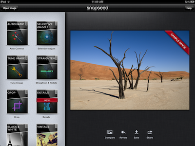 SnapSeed Got a new iPad? These are the first apps you should install on it