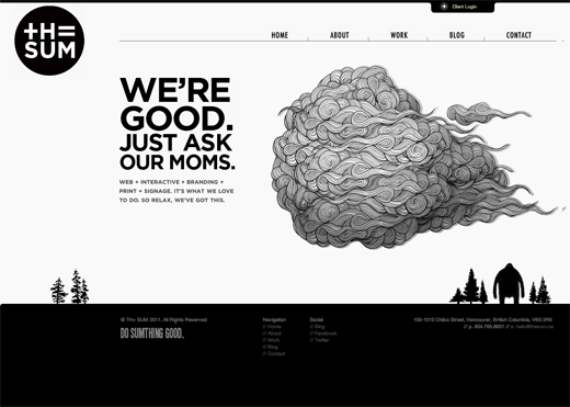 TH SUM 9 Gorgeous examples of black and white websites