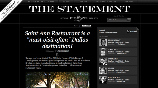 The Old State Blog 9 Gorgeous examples of black and white websites