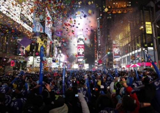 Times Square NYC 520x368 The Best Places in the World to be on New Years Eve