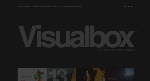 Visualbox 9 Gorgeous examples of black and white websites