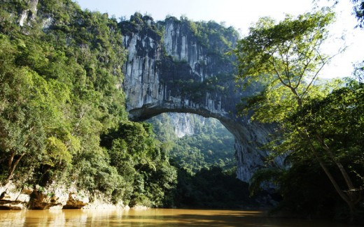 bridge 3 520x325 Meet the Fairy Bridge, a nearly unknown 400 foot natural arch in China