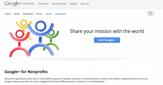 googleplusorgs 520x271 In 2011, Google gave back $100 million to various charitable organizations