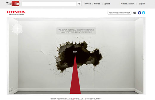 hondayoutube Hondas awesome interactive ad, by the guys that made Old Spice viral