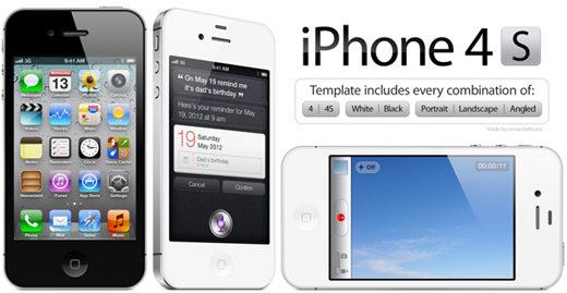 iPhone2 13 iPhone, Android and Nokia PSDs for killer mobile mockups