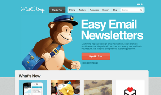 mailchimp 14 awesome examples of illustration in web design