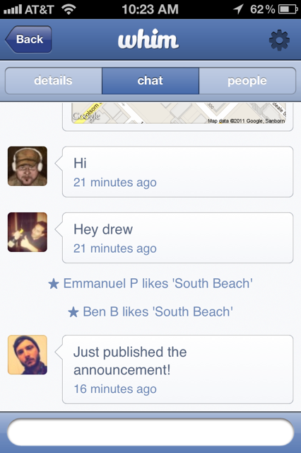 photo 32 Whim has launched, so stop sending me Facebook Event invites for coffee