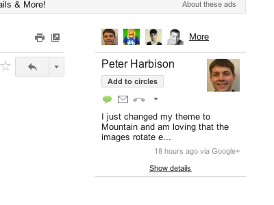 plus1 Google+ just got better with Gmail and Contacts integration