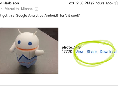 plus41 Google+ now lets you share pictures effortlessly from Gmail