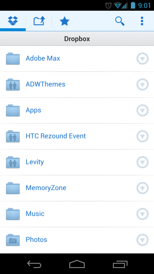 png 1 520x924 Dropbox drops new Android app preview; delivers ICS support, bulk uploads and more
