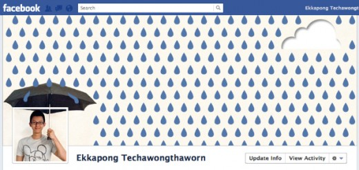 rain 520x246 5 Ways to jazz up your Facebook Timeline cover