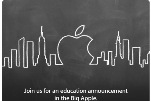 Apple event 520x348 Apple announces event focusing on education in New York on Jan. 19