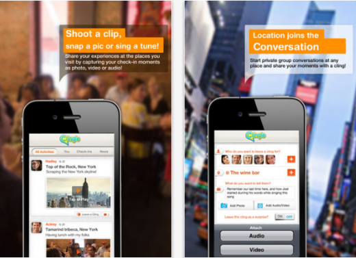 Clingle 520x377 Social check in app Clingle hits 200,000 downloads in 2 months