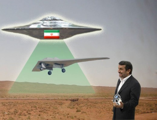 IranUFOdrone31 520x397 Iranian engineer: US drone captured using flying saucer and force fields