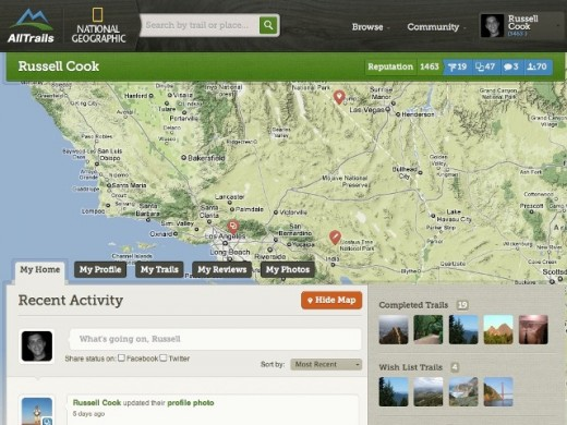MemberHome 520x390 AllTrails, the Yelp for outdoor pursuits, partners with National Geographic Maps