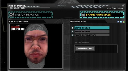 Mission  Impossible Ghost Protocol Mask Maker 520x288 Create a 3D mask of your face just like they do in Mission: Impossible 4