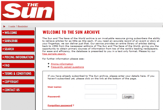 NINT 520x350 News International archive site reignites debate about the UK Suns paywall plans