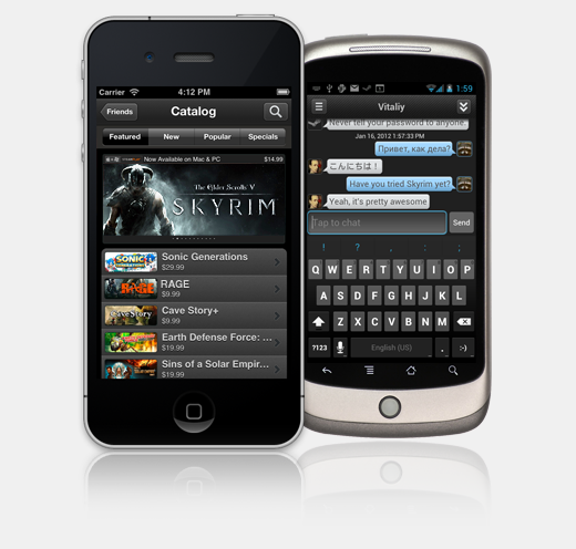 SM Devices1 Valve launches Steam mobile apps to extend its huge gaming platform