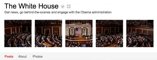Screen Shot 2012 01 20 at 8.52.01 AM 520x198 The White House has officially joined Google+, will host Hangouts