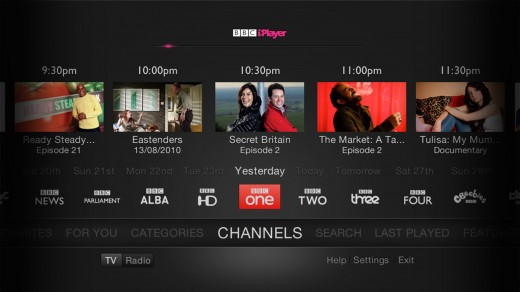 SelectChannel 520x292 BBC iPlayer secured 2bn programme views in 2011, a record year driven by connected devices