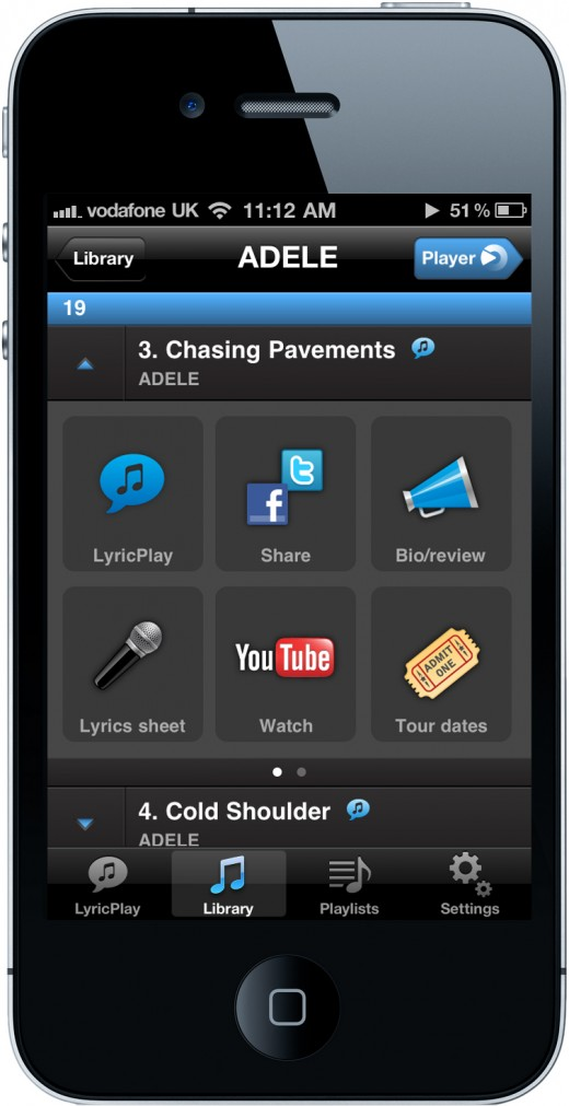 Shazam Player The Track Tray 520x1011 Shazam moves beyond tagging to launch Shazam Player, its unique new music app