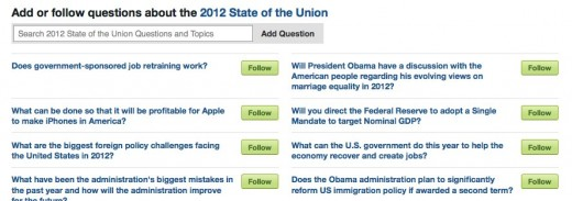 State of The Union 2012 Quora 1 520x183 Tonights Presidential SOTU will be the most interactive ever. Heres how you can be heard