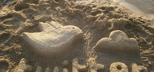 Twitter in the sand by Rosaura Ochoa