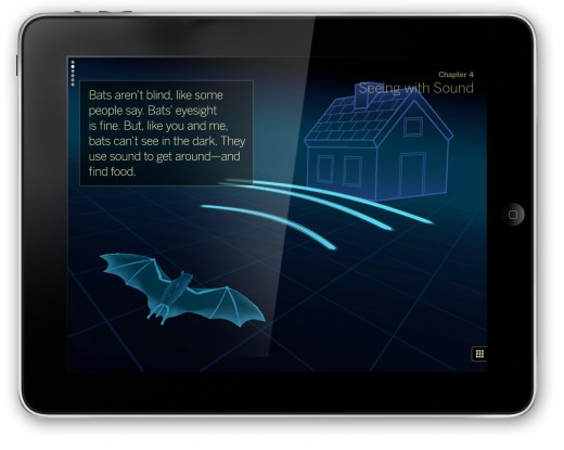 bats seeing with sound 520x415 This is how childrens books should look on the iPad