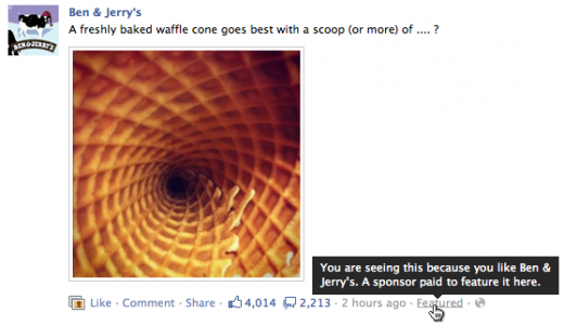 fb sponsored stores 520x301 Facebook has begun putting Sponsored Stories in news feeds: are you seeing them yet?