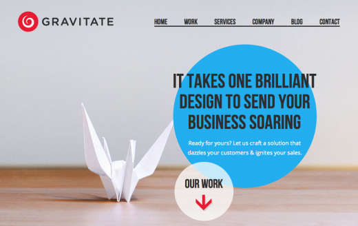 gravitate 520x328 10 Beautiful examples of responsive Web design