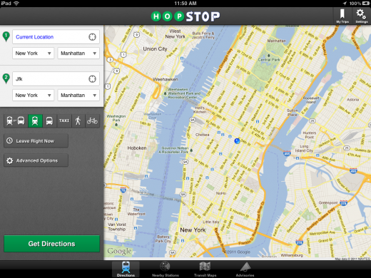 hop 520x390 HopStop rockets past 1M downloads and launches a brand new iPad App