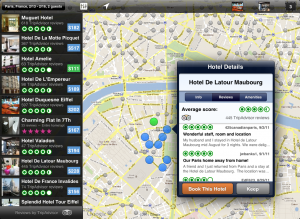 iPad hotel details 300x219 New Hipmunk app lets you search for the hottest hotels using heatmaps