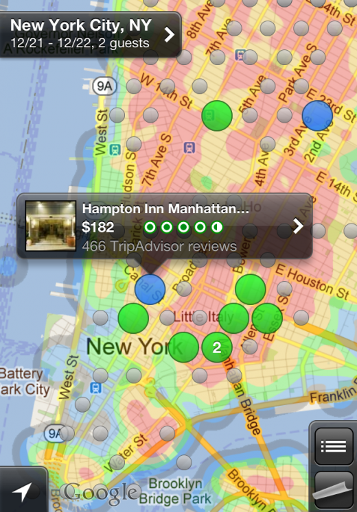 iPhone heatmap1 520x747 New Hipmunk app lets you search for the hottest hotels using heatmaps