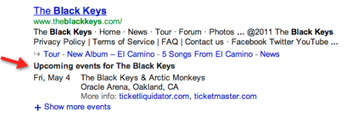 2012 02 16 black keys arrow2 520x184 Google adds concert listings to search results for musical acts