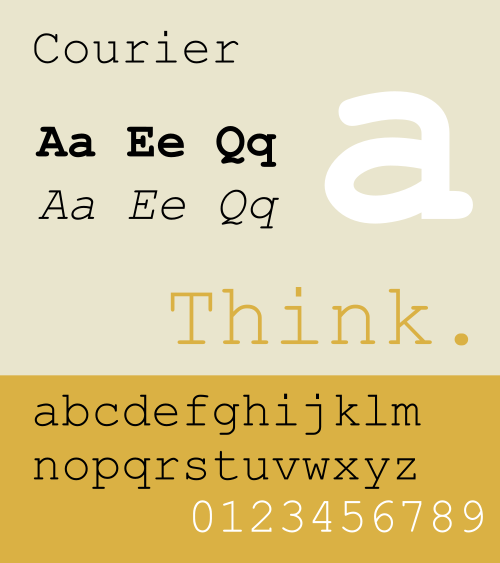 500px Courier Design Flashback: 10 Iconic typefaces born in the 1950s