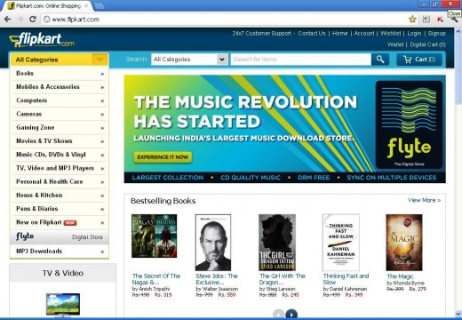 Flipkart launches Flyte Feb 27 2012 520x360 Dubbed the iTunes of India, Flipkarts new music store takes Flyte