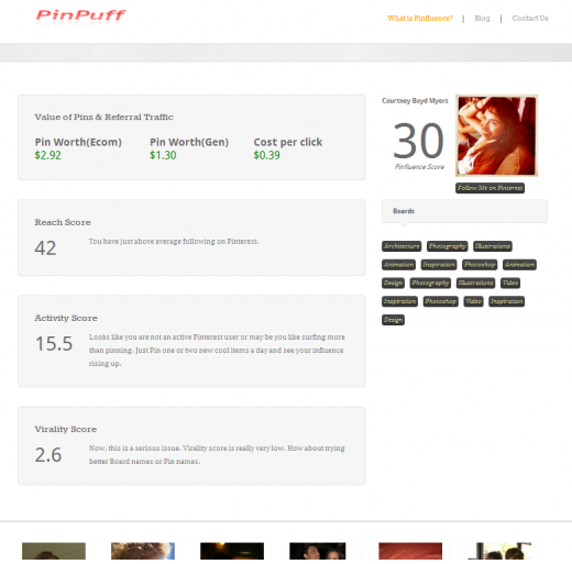 Out of respect 520x513 A 20 year old launches Pinpuff, a Klout for Pinterest