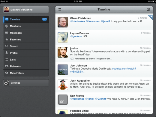 Photo Jan 30 2 08 37 PM 520x390 Tweetbot for iPad is a classic Twitter experience with a speedy gesture focused interface