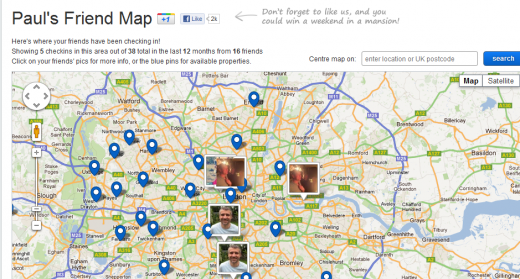 Screenshot 112 520x279 Adzuna launches Friend Map, letting you ask Facebook friends where you should live